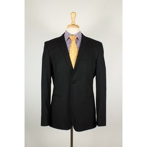 Zara 42R Black 2B Mens Sport Coat 44-L